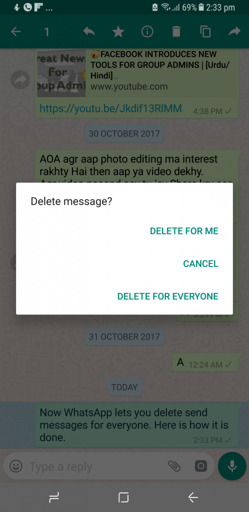 how to delete a whatsapp msg after 7 minutes | Read WhatsApp Deleted