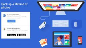 Google Backup and Sync Google Photos