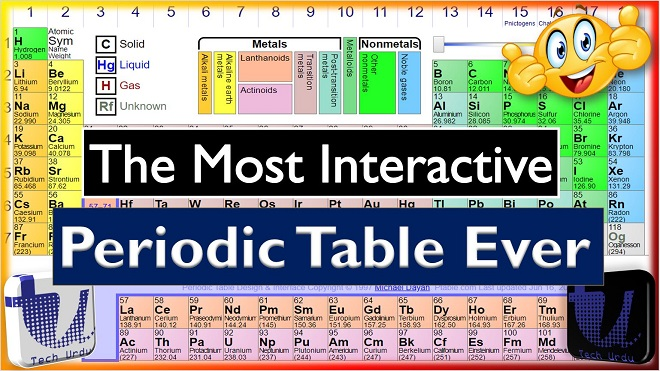 The most interactive and dynamic periodic table ptable tech urdu urtaz Image collections