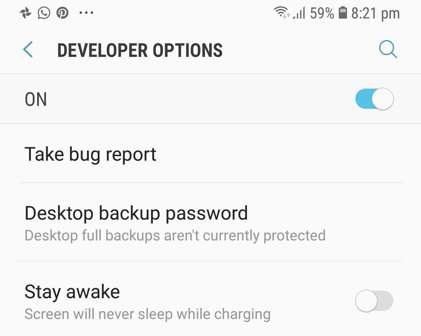 Developer Options - Take Bug Report - Tech Urdu