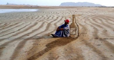 3D Sand Art on Balochistan Coasts - Tech Urdu