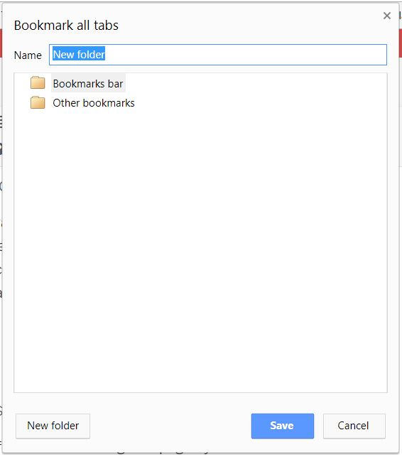 Save all your open tabs into a folder - tech urdu