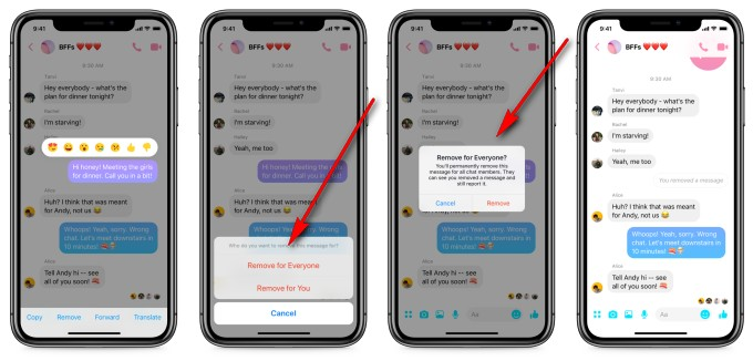 Now You Can Unsend Messages in Facebook Messenger