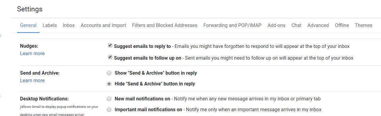 Gmail Nudges - how to activate it 1- tech urdu