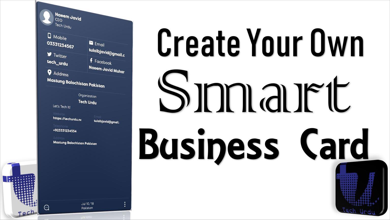 create your digital smart business card ecotech tech urdu