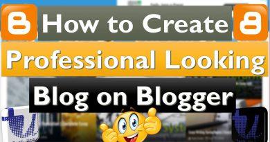 Professional Looking Blogger/Blogspot Blog