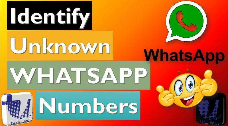 Identify Unknown Numbers on WhatsApp - Tech Urdu