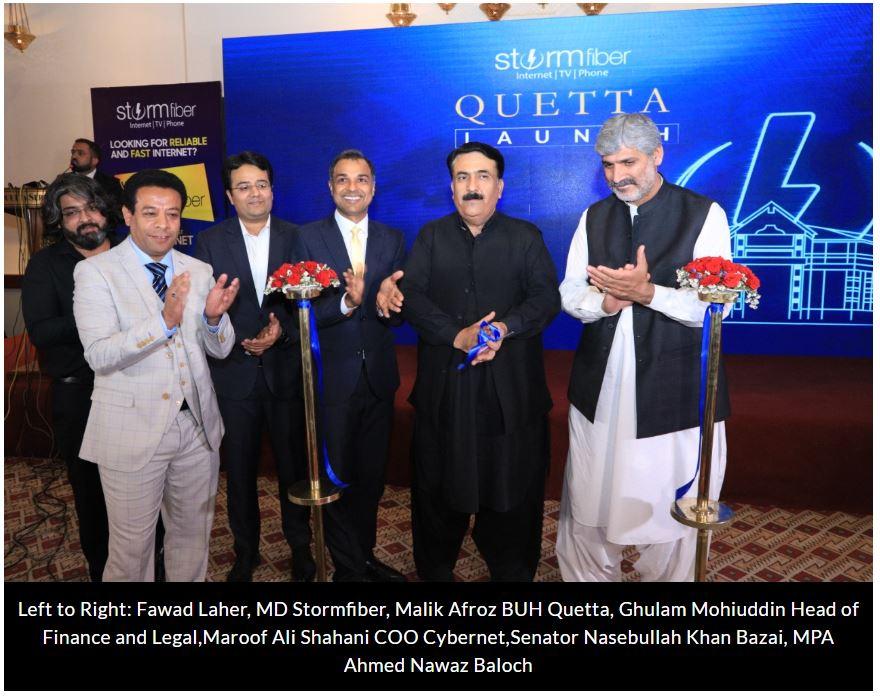 Stormfiber in Quetta Launch