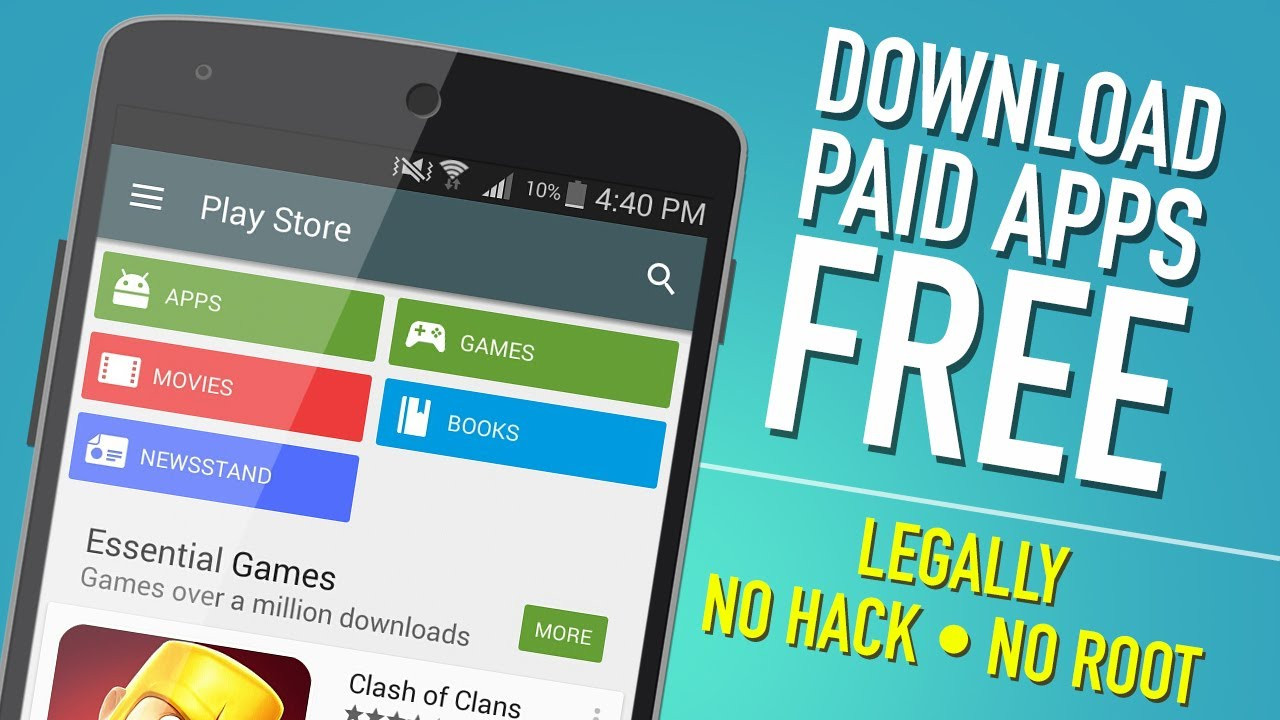 How to get paid apps for free on android? Legally no hack no root.