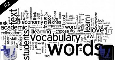 Your Weekly Vocabulary list