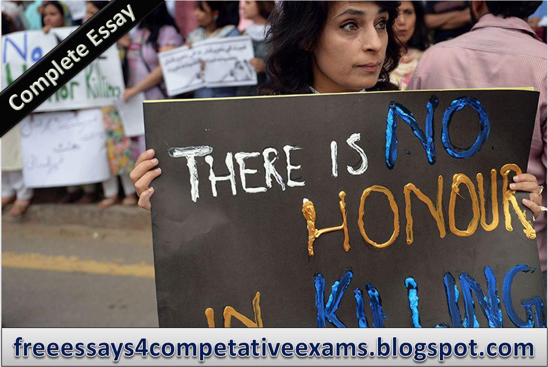 honour killing complete essay - pakistan
