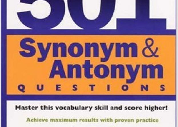 501 Synonym & Antonym Questions - Tech Urdu