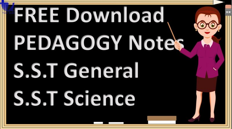 FREE Download Pedagogy (General Methods of Teaching & School / Classroom Management) for S.S.T General and S.S.T Science - Tech Urdu