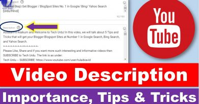 The Importance of Writing DESCRIPTIONS for YouTube Videos - Tech Urdu