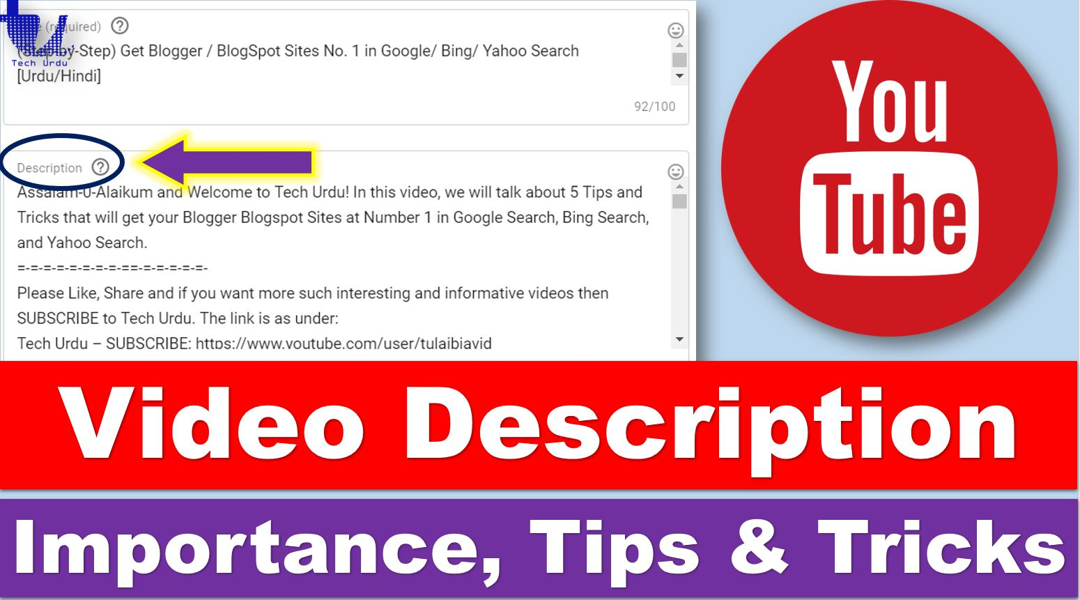 The Importance of Writing DESCRIPTIONS for YouTube Videos