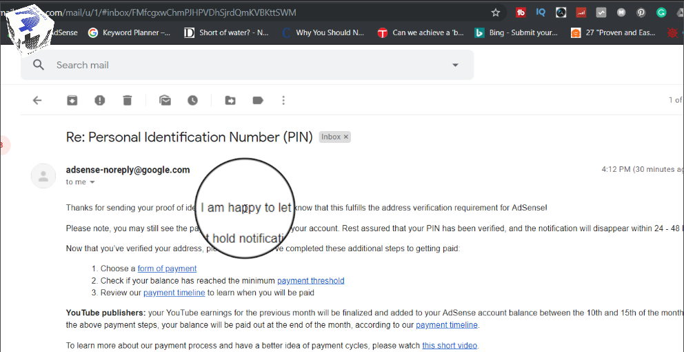 Here is How to Verify Google AdSense Without Receiving Address Verification PIN - Steps to Verify Google AdSense Without Receiving Address Verification PIN techurdu.net