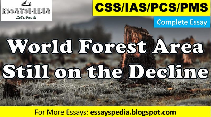 World Forest Area Still on the Decline | Complete Essay with Outline - tech urdu