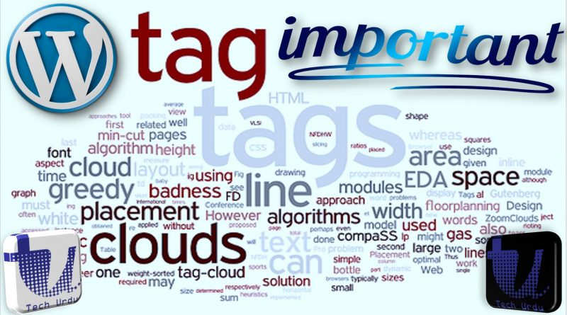 Tags - Importance and Usage in Blogs Posts (WordPress) - techurdu.net