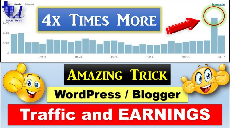 Get 4 Times More VIEWS More EARNINGS on BlogSpot/WordPress - techurdu.net