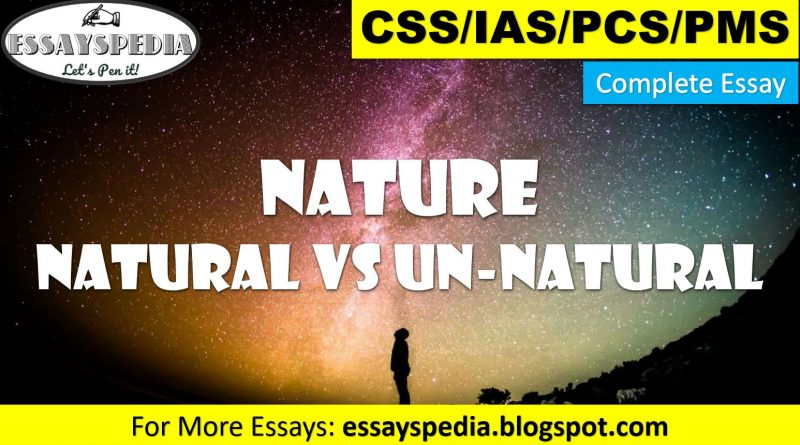 Universe - Natural Vs Unnatural - techurdu.net