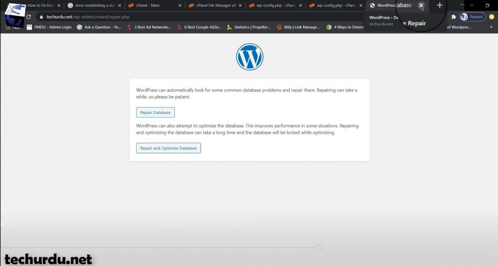 Here is How to Fix Error Establishing a Database Connection in WordPress - techurdu.net