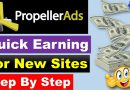 Propeller Ads – Quick Earning Solution for New (WordPress & Blogger) Sites